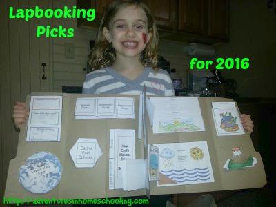 Lapbooking Picks for 2016