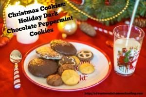 Christmas Cookies – Holiday Dark Chocolate Peppermint Cookies